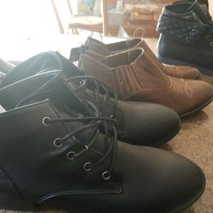NEW set of 5 ankle boots, booties Arizona, Payless